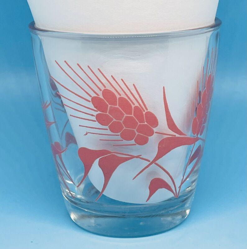 Vintage Hazel Atlas Sour Cream Glass Wheat Pattern PINK