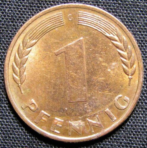 1950 G Germany 1 Pfennig Coin