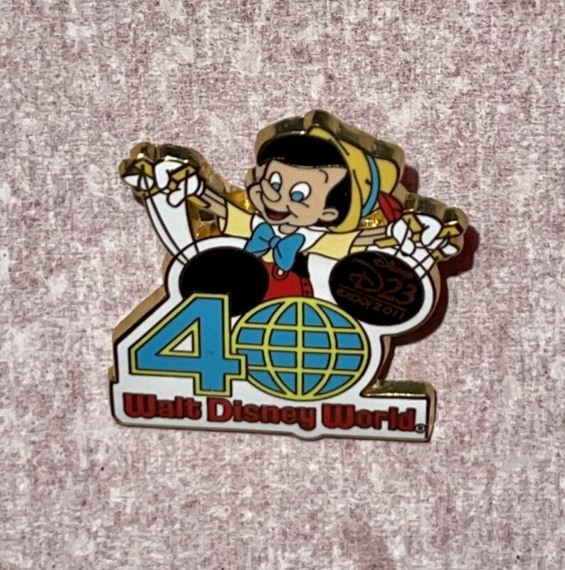 D23 2011 Expo Disney World 40th Anniversary Pinocchio Mystery Pin 85140