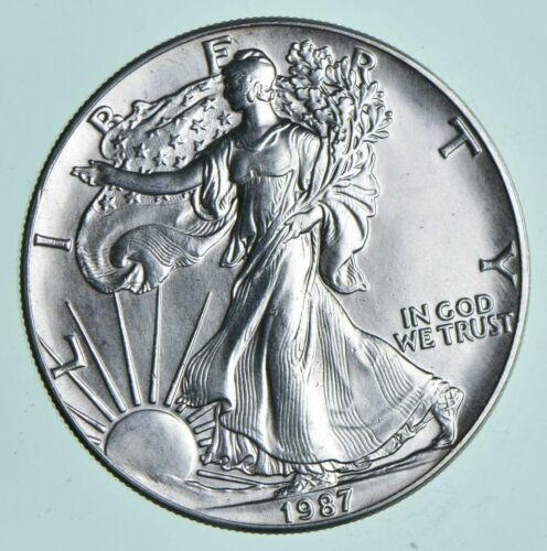 1987 American Silver Eagle 1 Troy Oz .999 Fine Silver Brilliant Uncirculated BU