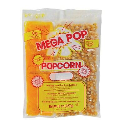 Gold Medal Mega Pop Popcorn Kit 6 Oz. Kit 36 Ct. Kosher Parve Certified