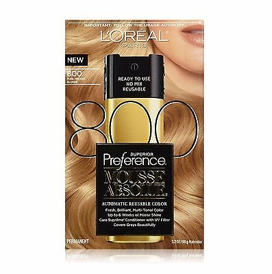 - L'Oreal Paris Superior Preference Mousse Absolue, 800 Pure Medium Blonde