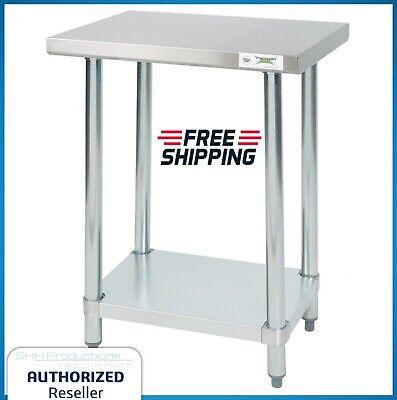 18 X 24 Stainless Steel Commercial Work Table Undershelf Kitchen Nsf Restaurant