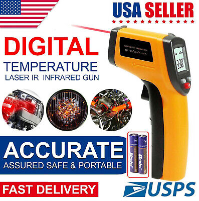 Us Digital Laser Ir Infrared Temperature Gun Thermometer Aaa Batteries Included