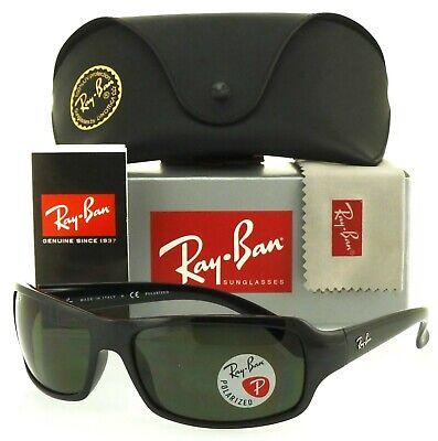 Ray-Ban RB4075 601/58 61mm Black Crystal Green (Ray Ban Crystal Green)