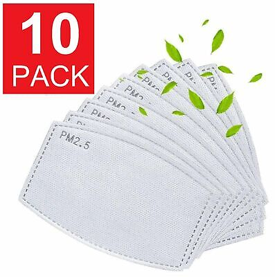 Adult – 10 Pack / Pieces PM2.5 Carbon Replacements 5 Layer Air Filter Face Mask Accessories