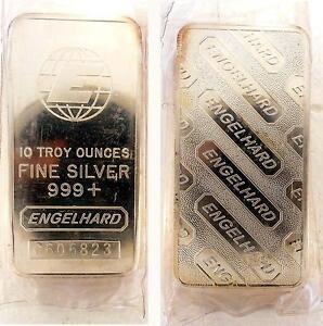 10 Troy Ounce Engelhard Silver Bars