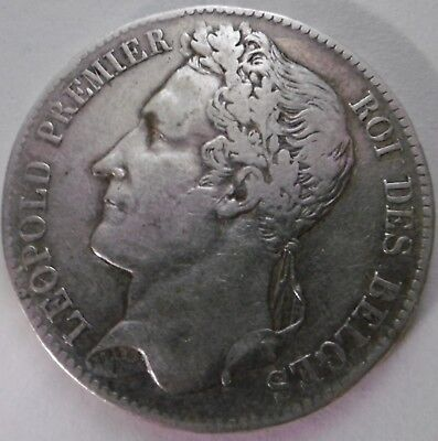1847, 5 francs, Belgium silver coin with Belgian king Leopold I