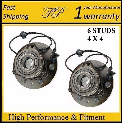 Chevrolet Silverado 1500 Hub - Front Wheel Hub Bearing Assembly for Chevrolet Silverado 1500 (4WD) 2007-11 PAIR