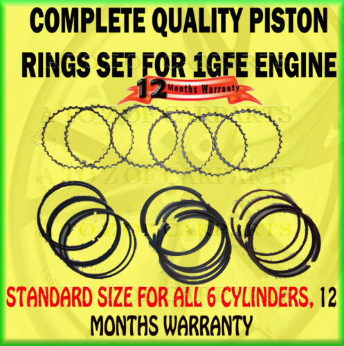 FOR LEXUS IS200 2.0 GXE10 01/99-12/05 1GFE 24V 6 CYLINDER PISTON RING RINGS SET