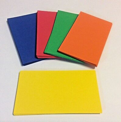 100 Primary Colors Blank Business Cards 3.5 x 2, Multi, flash cards, note cards ](Blank Flash Cards)