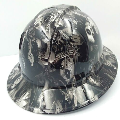 FULL BRIM Hard Hat custom hydro dipped , NEW TATTOO BABES HI DEF NEW 3