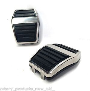 FORD ESCORT CAPRI MK1 MK2 GT BRAKE & CLUTCH PEDAL RUBBER PAD & STAINLESS TRIM