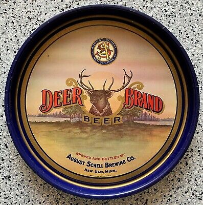 Pre Prohibition August Schell Deer Brand Beer Serving Tray