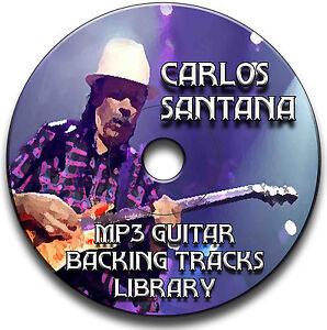 50-CARLOS-SANTANA-STILE-MP3-CHITARRA-ROCK-SUPPORTO-JAM-TRACCE-CD-LIBRARY