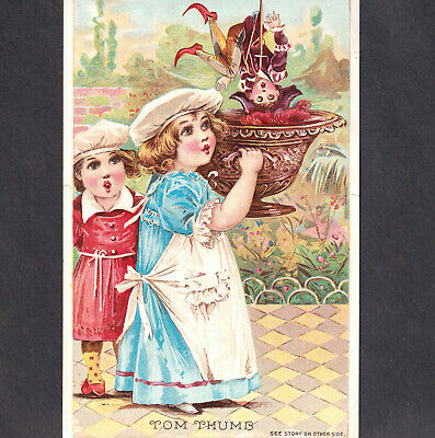 Antique Mechanical Trade Card Victorian Trade Card Blank Before and After the Races