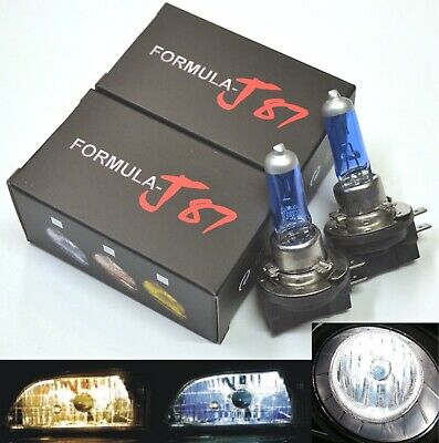 Halogen H11B 55W 5000K White Two Bulbs Head Light Low Beam Replace Plug Play Fit