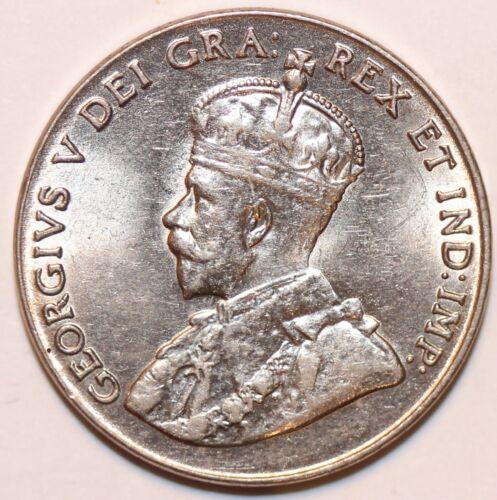 Canada 1928 5 cent Nickel in Lustrous BU Condition.    # 0105