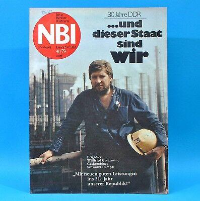 DDR NBI 41 1979 Merkers Freileben Schwarze Pumpe Talsperre Pöhl Täve Schur N