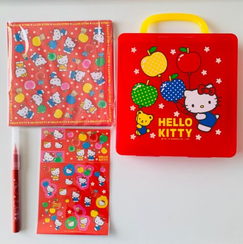 Sanrio Hello Kitty Stationary Set with Plastic Case