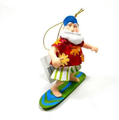 Surfing Santa Ornament by Gallarie II Hawaiian Shirt ()