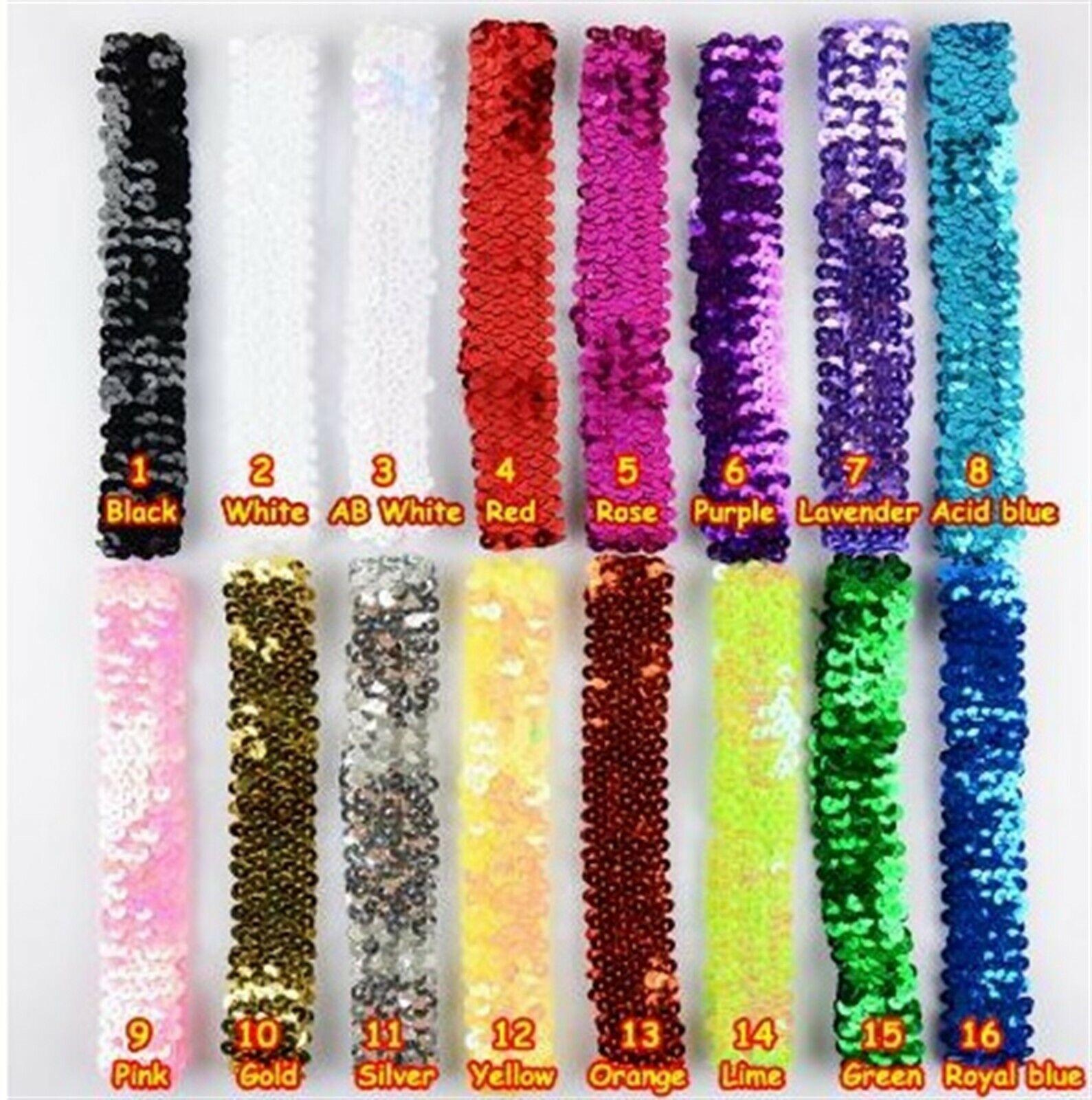 Haarband Stirnband Flapper Pailletten Haarschmuck 20er Jahre Party -16 Farben