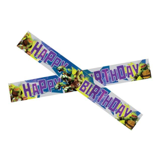 15ft Teenage Mutant Ninja Turtles Party Happy Birthday Foil Banner Decoration