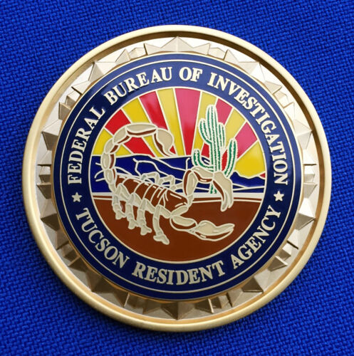 Federal Bureau of Investigation Tucson RA FBI Arizona LEO Police Challenge Coin