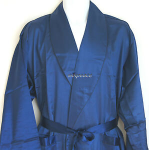 Luxurious Mens Silk Satin Pajamas Kimono Robe Gown Loungewear US M L XL 2XL 3XL
