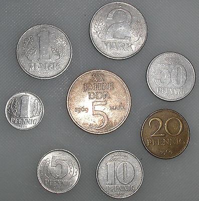 DDR Mark Erinnerungssatz 1 Pfennig bis 5 M