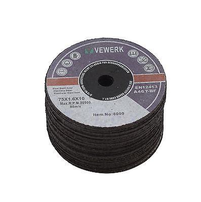 50 X INOX Trennscheiben Metall Ø 75 x 1,6 x 10 mm für Druckluft Trennschleifer