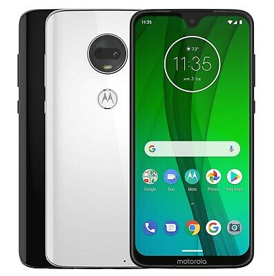 "Motorola Moto G7 XT1962-4 Dual (FACTORY UNLOCKED) 6.2"" 64GB 4GB RAM Black White"