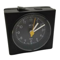 Braun 4744/AB7 Quartz Analog Travel Alarm Clock / USED