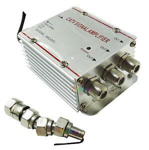 Amplificatore segnale antenna tv digitale terrestre 3 uscite - Cavo antenna tv piatto per porta finestra ...