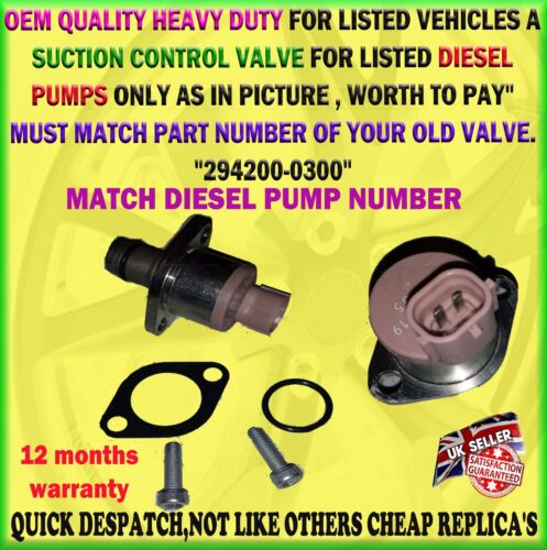 FOR TOYOTA HIACE HILUX LAND CRUISER AURIS FUEL PUMP INLET METERING VALVE 2.0 2.2