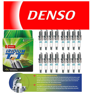 16 DENSO IRIDIUM TT TWIN TIP SPARK PLUGS for V8 HEMI CHARGER MAGNUM RAM 300