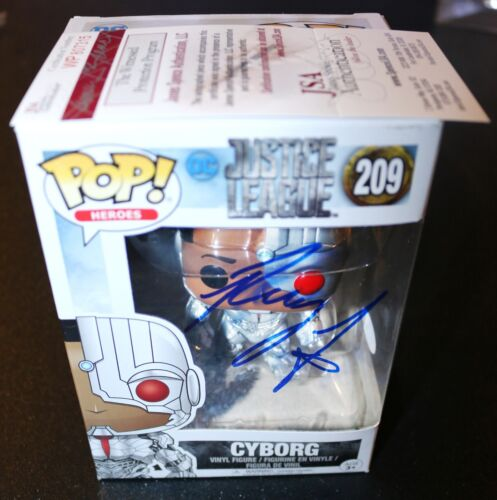Ray Fisher Autographed Funko Pop Cyborg Justice League JSA PSA 209 WITNESS