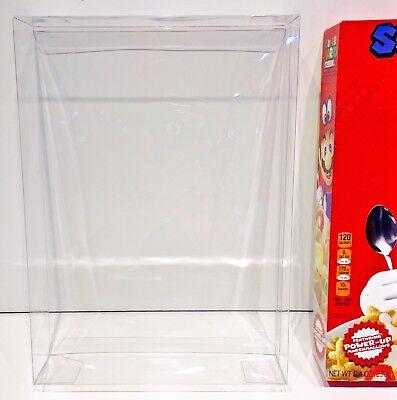 1 Box Protector For Super Mario Cereal Boxes  Clear Display Case Nintendo Amiibo
