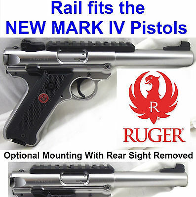 Factory Ruger Picatinny Rail For Mark Iv Scope Mount Base Mk 4 Mkiv Mk4 Picatiny