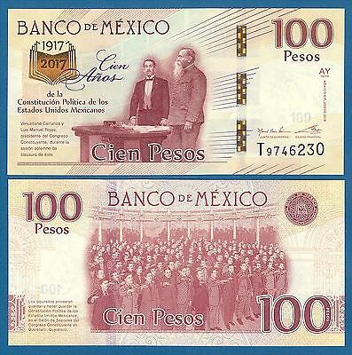 Mexico 100 Pesos P 130 2016 (2017) UNC Commemorative Low Shipping Combine FREE
