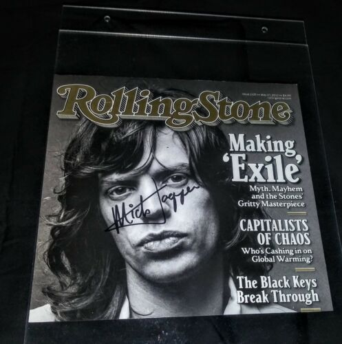 Mick Jagger Rolling Stones autograph