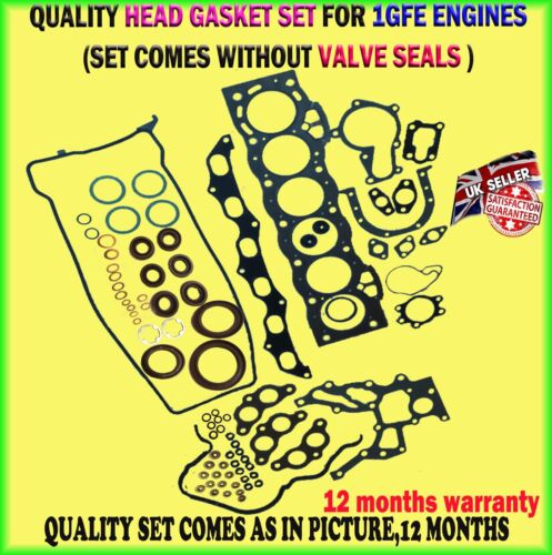 FOR LEXUS IS200 TOYOTA ALTEZZA 2.0 GXE1 99-05 1GFE 24V 6CYL HEAD GASKET SET