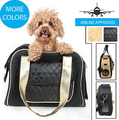Airline Approved Mystique Fashion Designer Travel Pet Dog & Cat Carrier Tote Bag ()