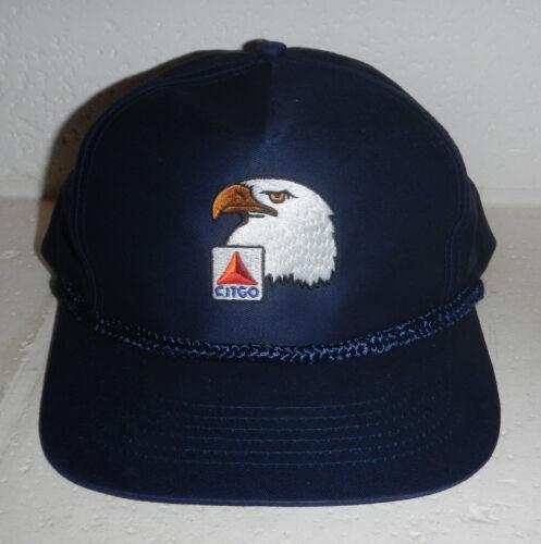 Vintage Citgo Petroleum Gas Corporation Company Logo Blue Eagle Baseball Hat Cap