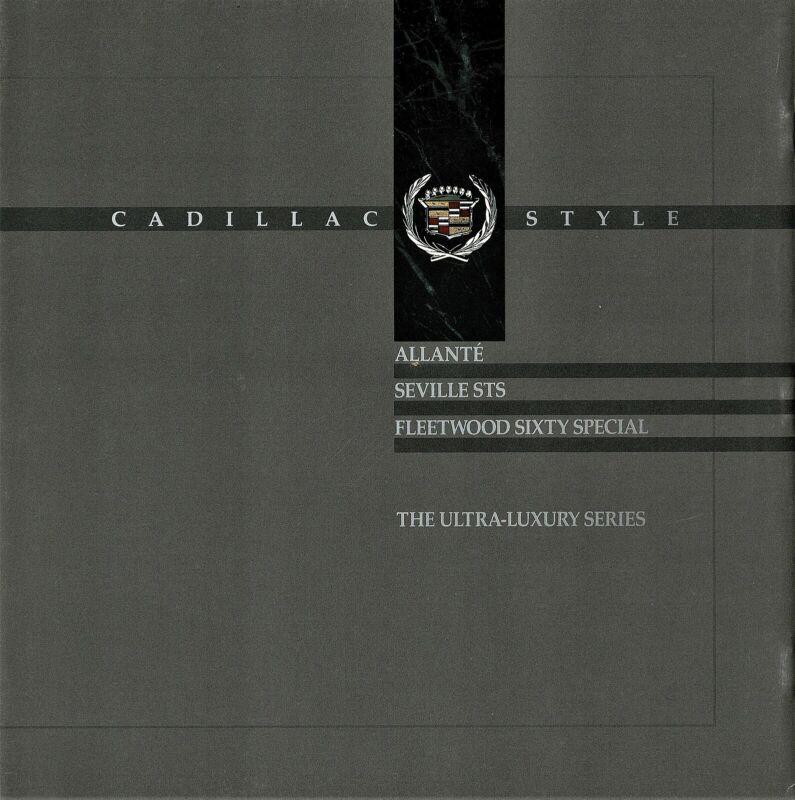 1990 Cadillac Allante Seville STS Fleetwood 60 Ultra-Luxury Sales  Brochure