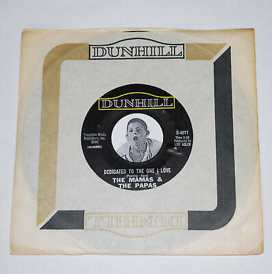 Pop Rock 45~THE MAMA'S & THE PAPA'S~Dedicated To The One I Love~CLEAN NOS Vinyl