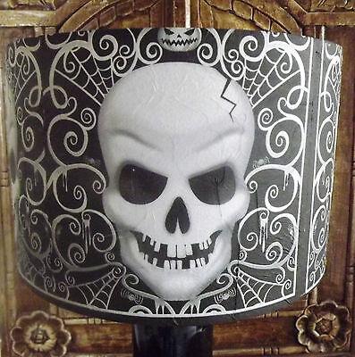 Gothic Skull Lamp shade,lampshade Halloween Black and white Free Gift - Halloween Lamp Shades