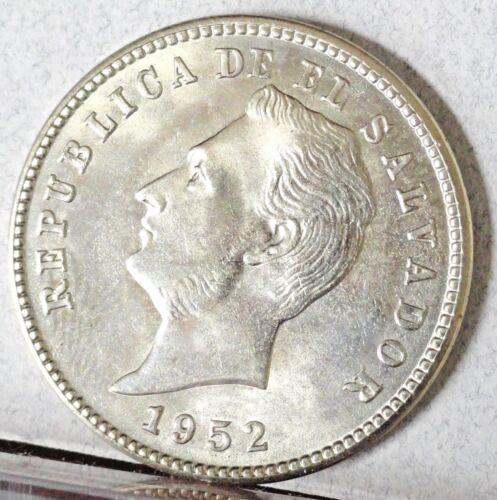 1952, EL SALVADOR, 10 CENTAVOS, BRILLIANT UNCIRCULATED