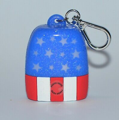 BATH & BODY WORKS LIGHT UP USA FLAG POCKETBAC HOLDER SANITIZER SLEEVE CASE CLIP](Flag Holder Case)
