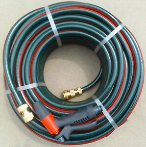 GARDEN HOSE PIPE WATERING 12mm x 50m AUSTRALIAN BRASS FITTED CONNECTORS TAP